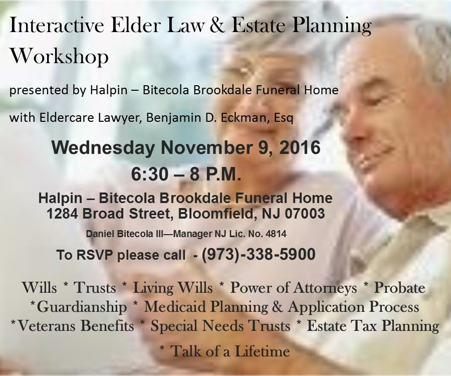 Interactive Elder Law and Estate Planning Workshop graphic
